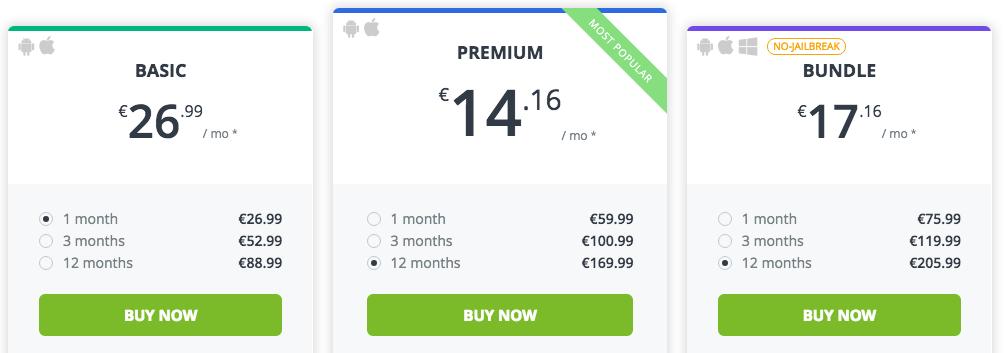 mSpy - aktuelle kosten