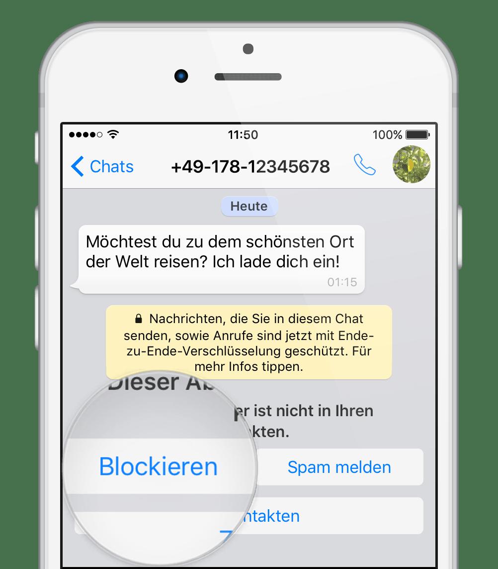 WhatsApp Chat blockieren