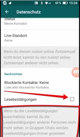 whatsapp blaue hacken deaktivieren android