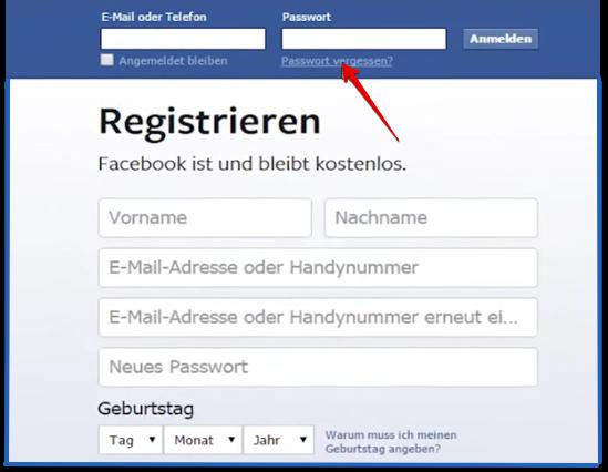 facebook password hacken