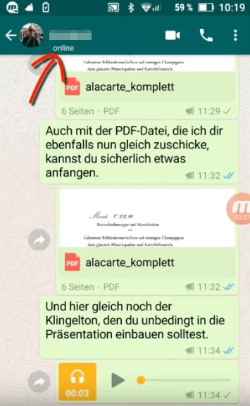Whatsapp Benachrichtigung