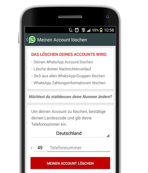 Live Account Löschen