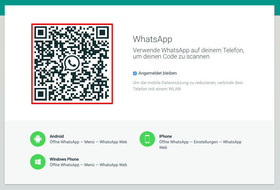 Web-Version von WhatsApp