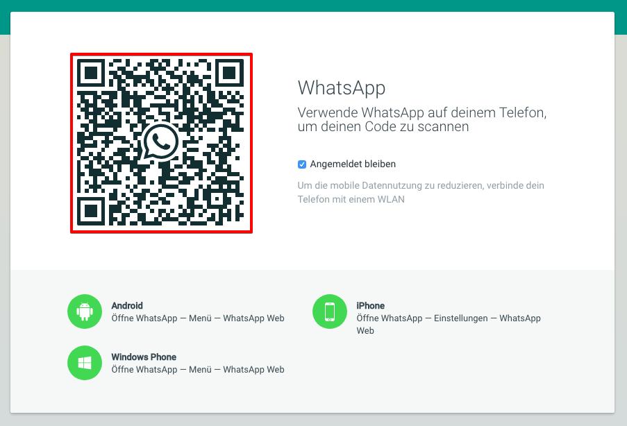 Web-Version von WhatsApp