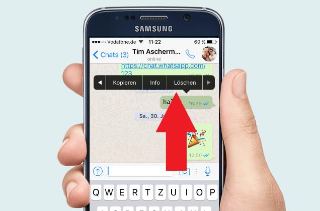 Whatsapp verschickte Nachrichten loschen