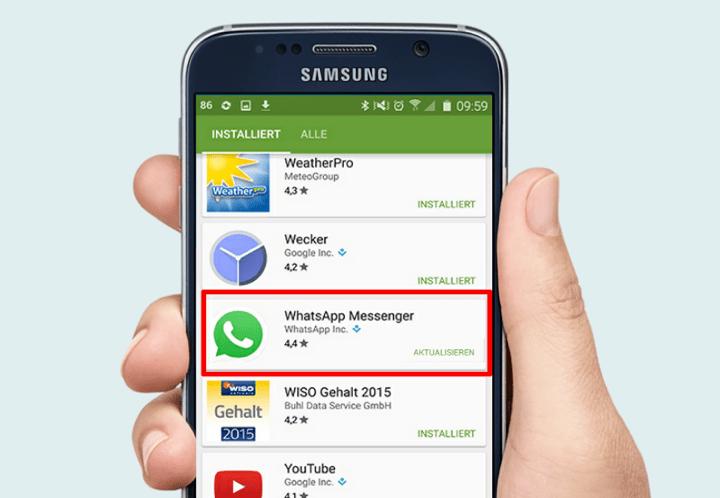 whatsapp aktualisieren bei samsung
