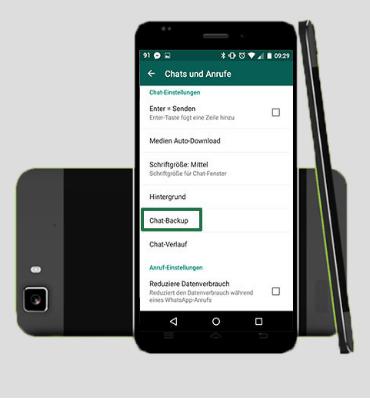 Backup von WhatsApp auf Google