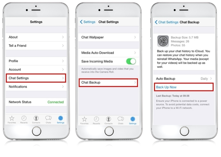 WhatsApp iPhone sichern