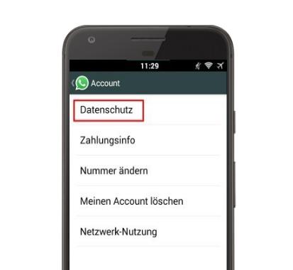 Whatsapp Datenschutz konto