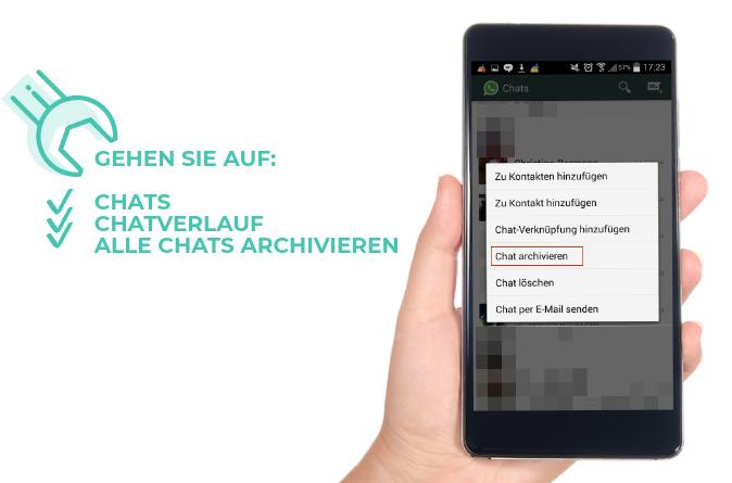 WhatsApp Nachrichten verstecken