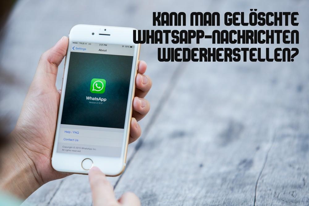 Whatsapp chat wiederherstellen ohne backup iphone kostenlos