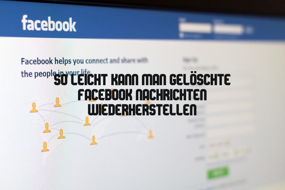 Facebook Nachrichten wiederherstellen