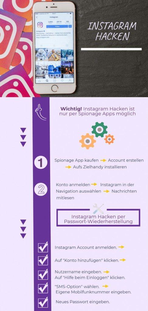 instagram hacken infografik